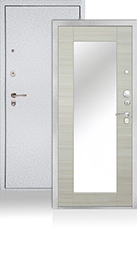 СЕЙФ-ДВЕРЬ АРГУС «ДА-86/2 МИЛЛИ СВЕТЛЫЙ ГОРИЗОНТ» серебро на белом
